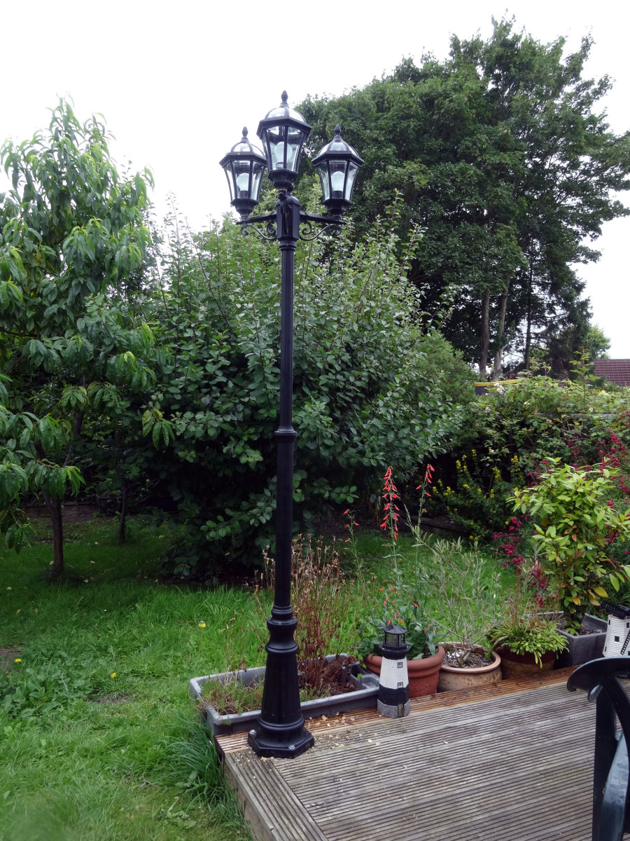 Streetlamp overlooking our back garden.