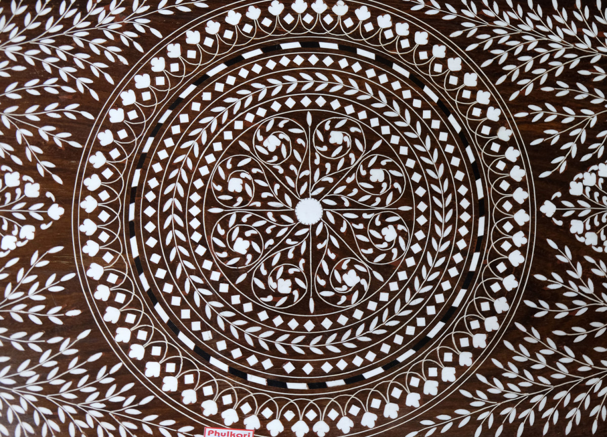Marquetry flooring pattern