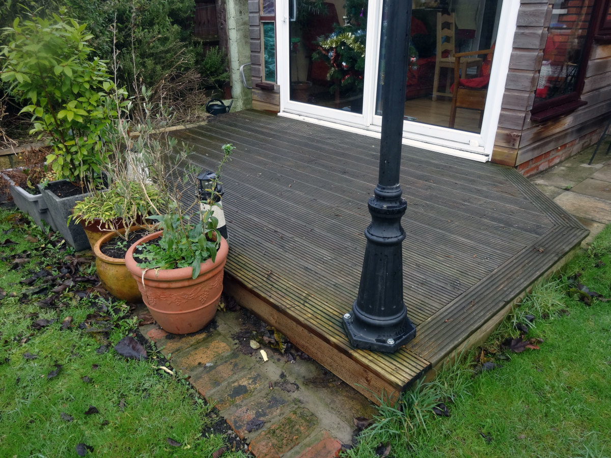 Stepdown from decking.