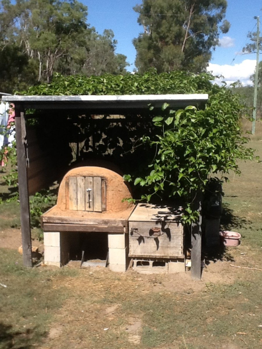 make a shelter to cover and protect the cob oven from the weather