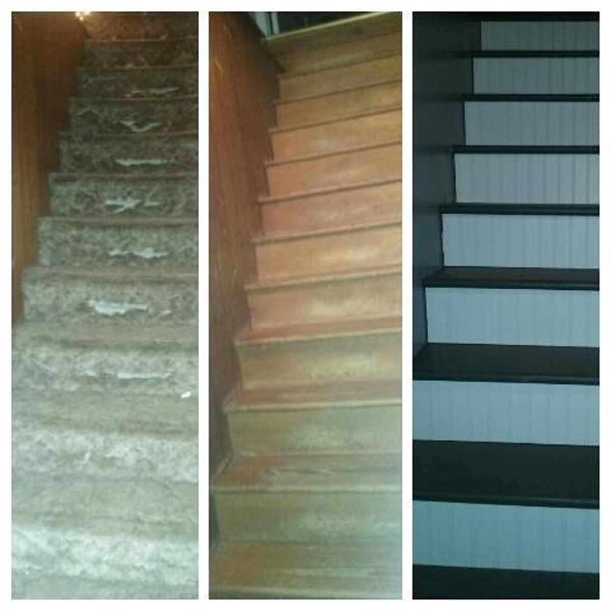 Redoing Carpeted Stairs:  From Worn-Out Carpet to Paint, One Couple's Journey!