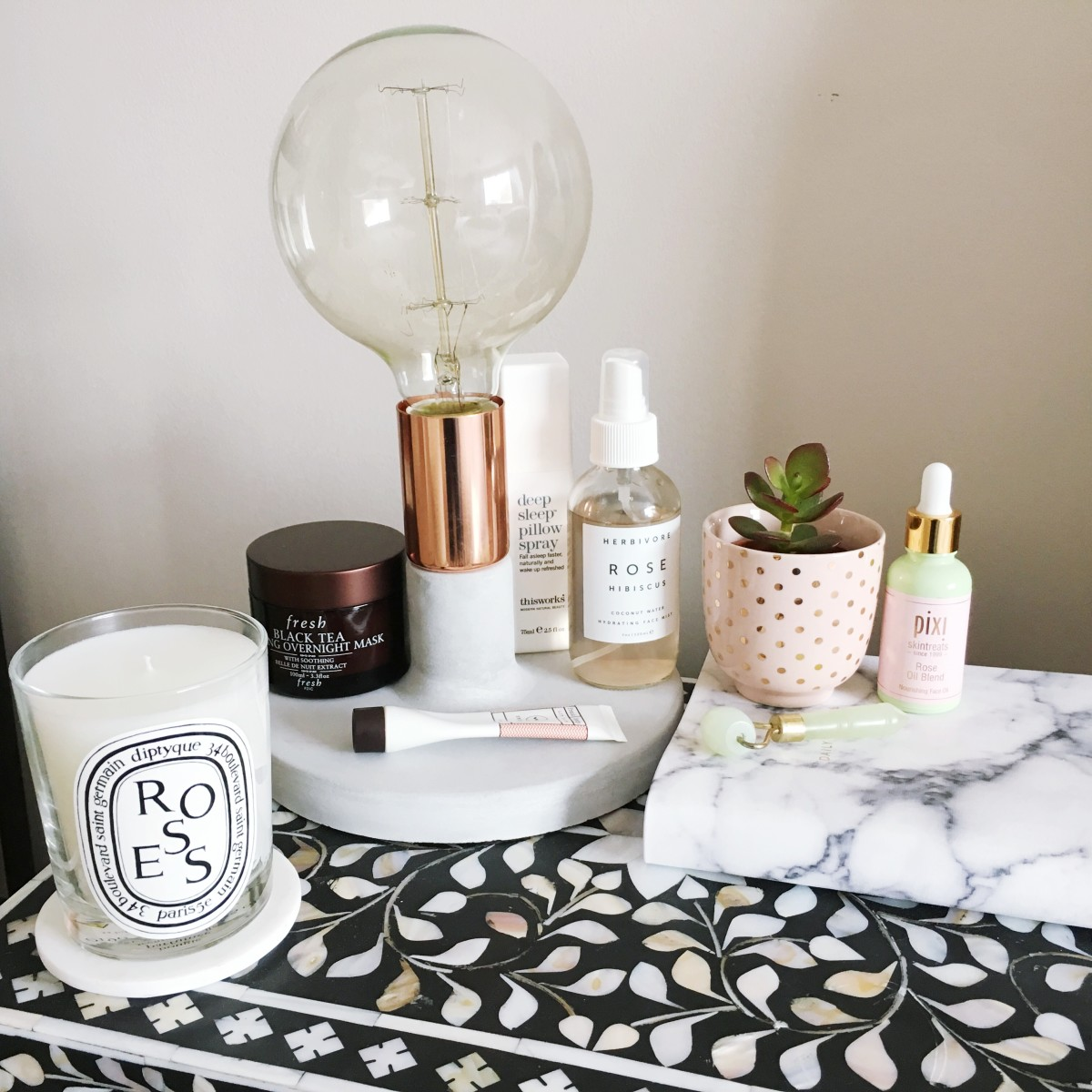 If we could only keep our bedside tables so nice and neat.