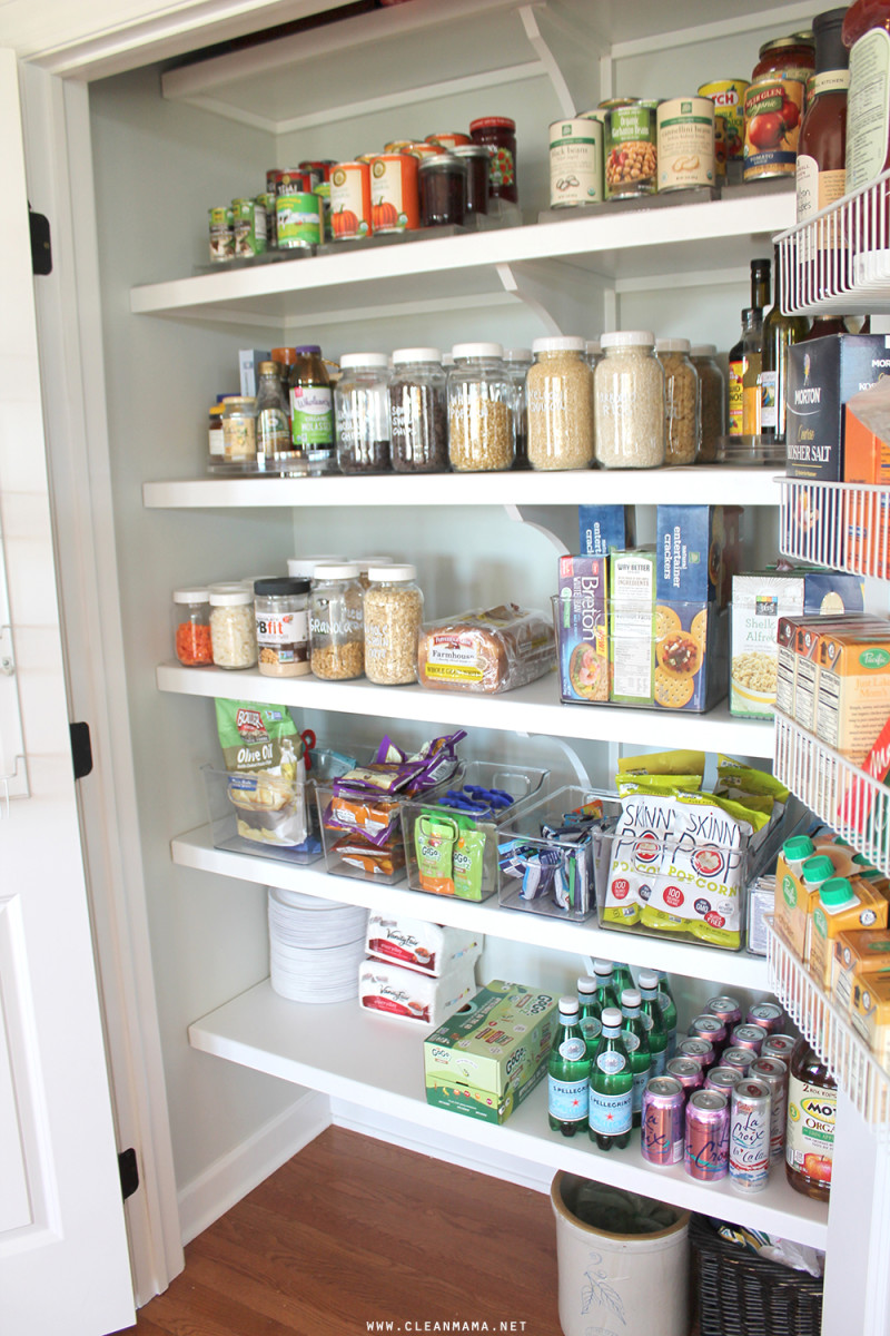 Keeping your pantry organized saves time.