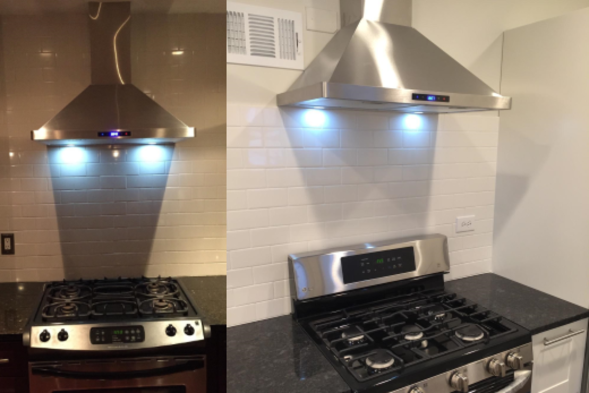 Top Wall Mounted Range Hoods Reviews Comparisons Dengarden - Kitchen hood light fixtures