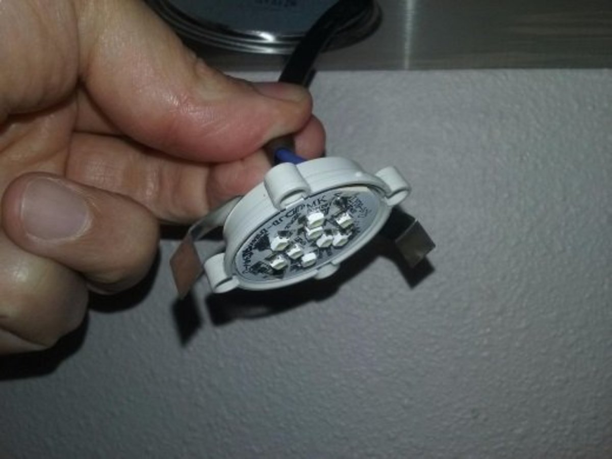 The lights are really weak. However, the manual suggests that the bulbs should not be changed to a higher wattage.