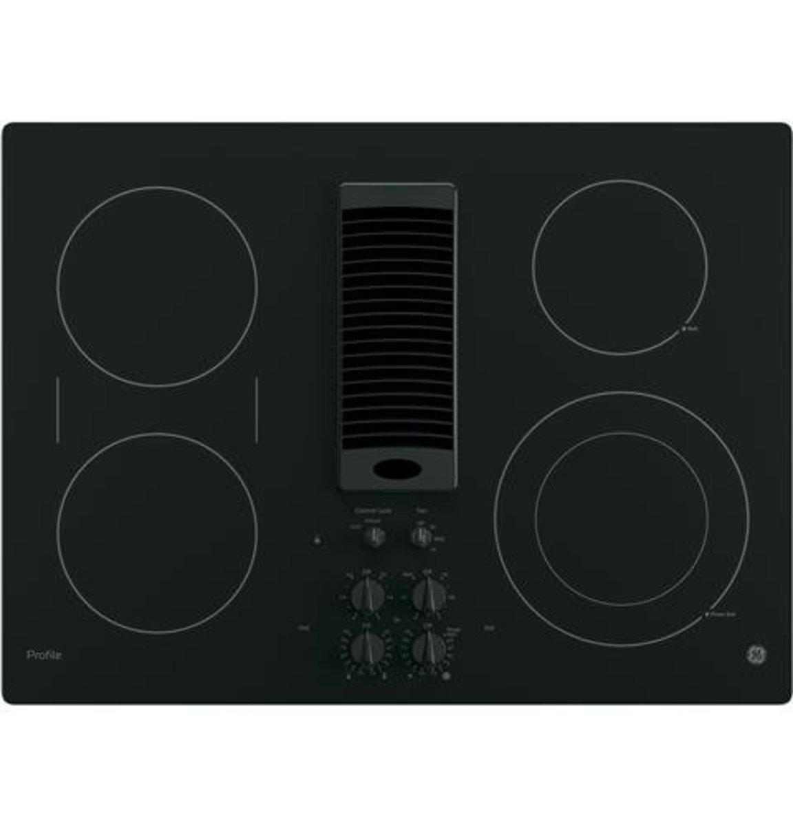 The GE PP9830DJBB Downdraft Electric Cooktop