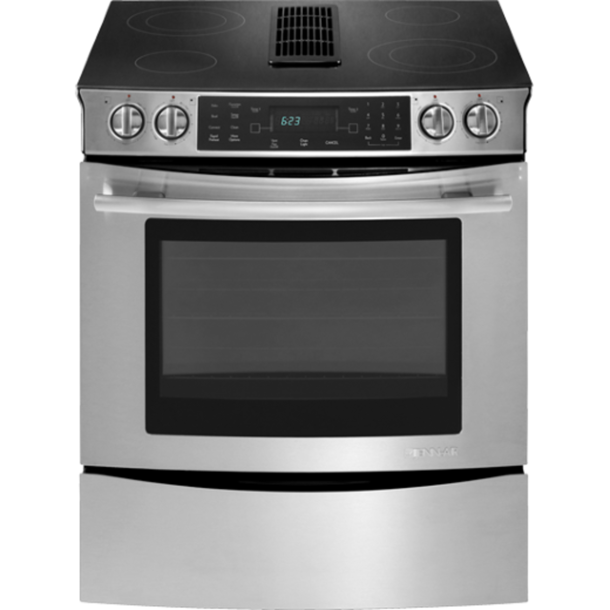 Electric Range With Downdraft