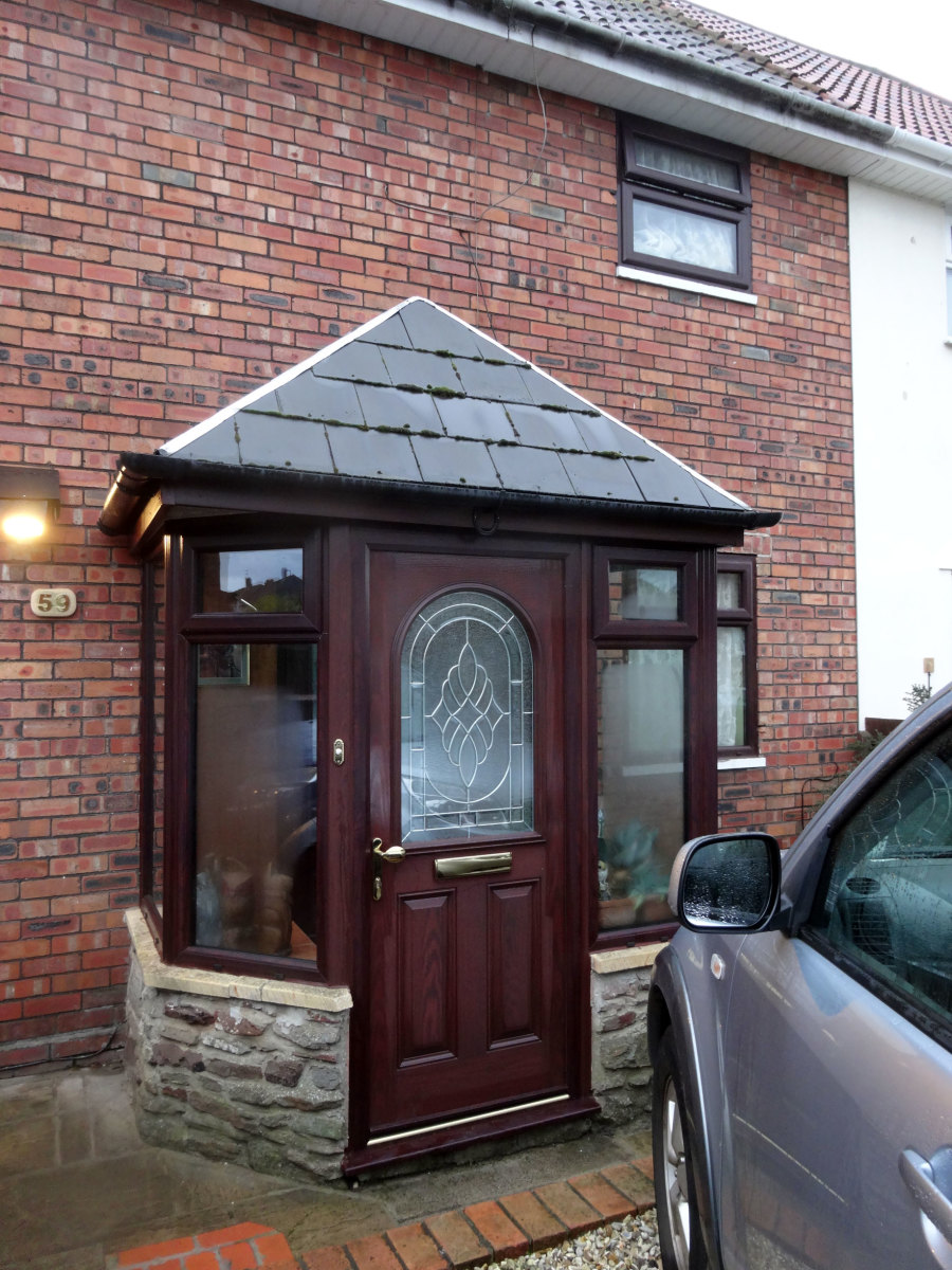 Porch newly double glazed, including the new uPVC facia board