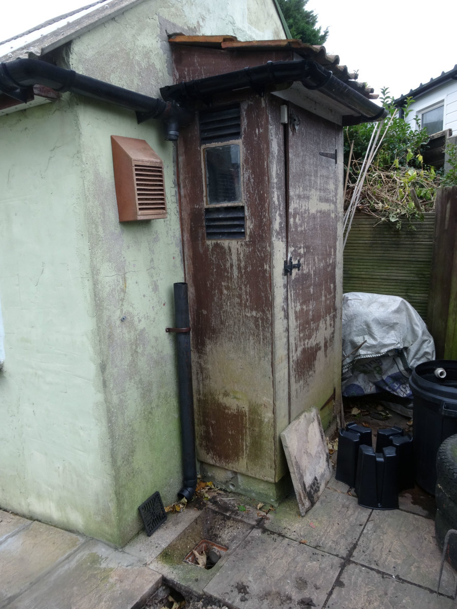 The old garden tool shed door