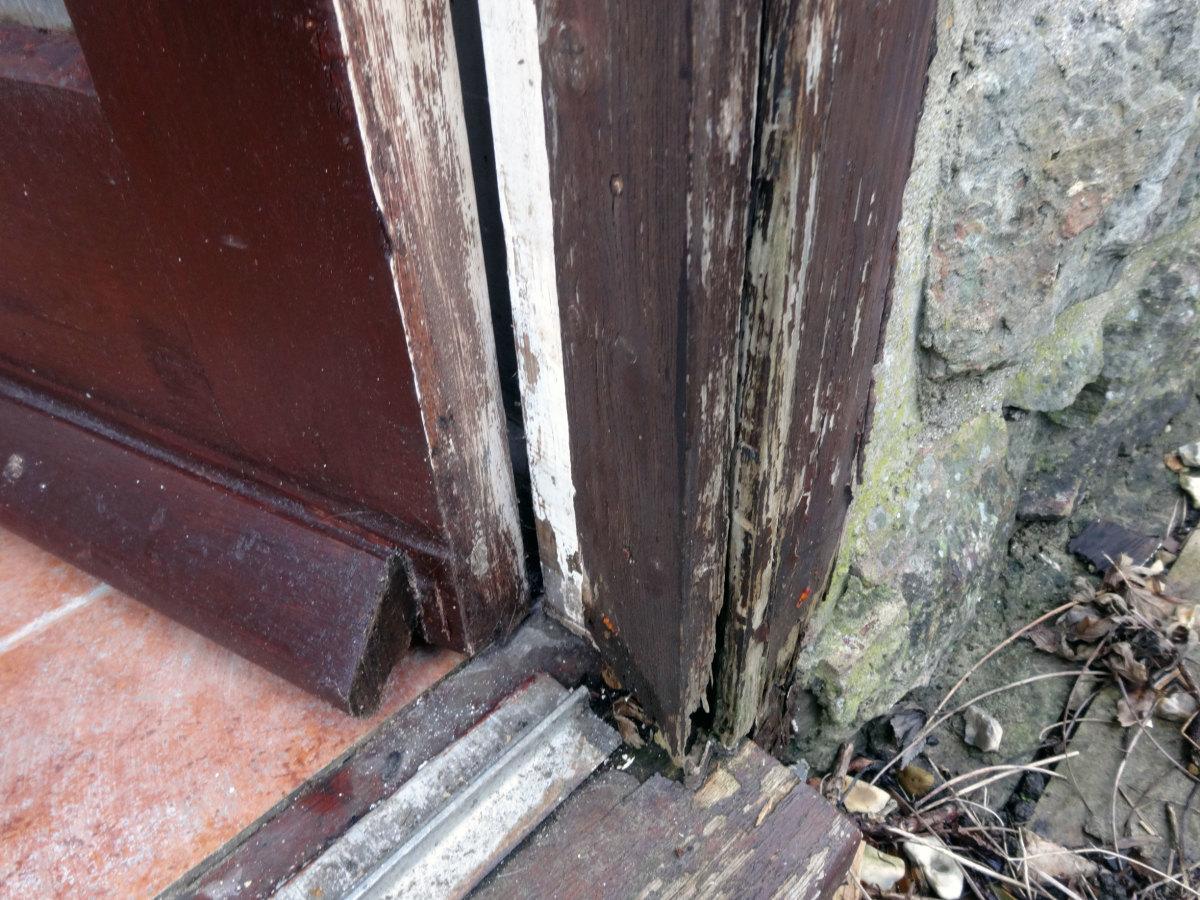 Rotten doorframe.