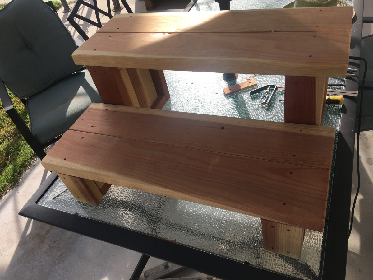 Fully assembled steps