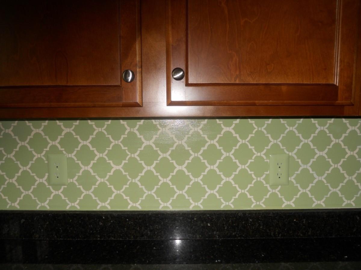 How to Stencil Your Kitchen Back Splash