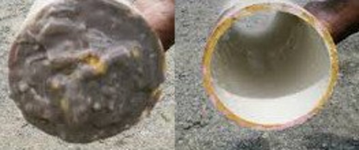 Before and After Hydro-Jet Cleaning