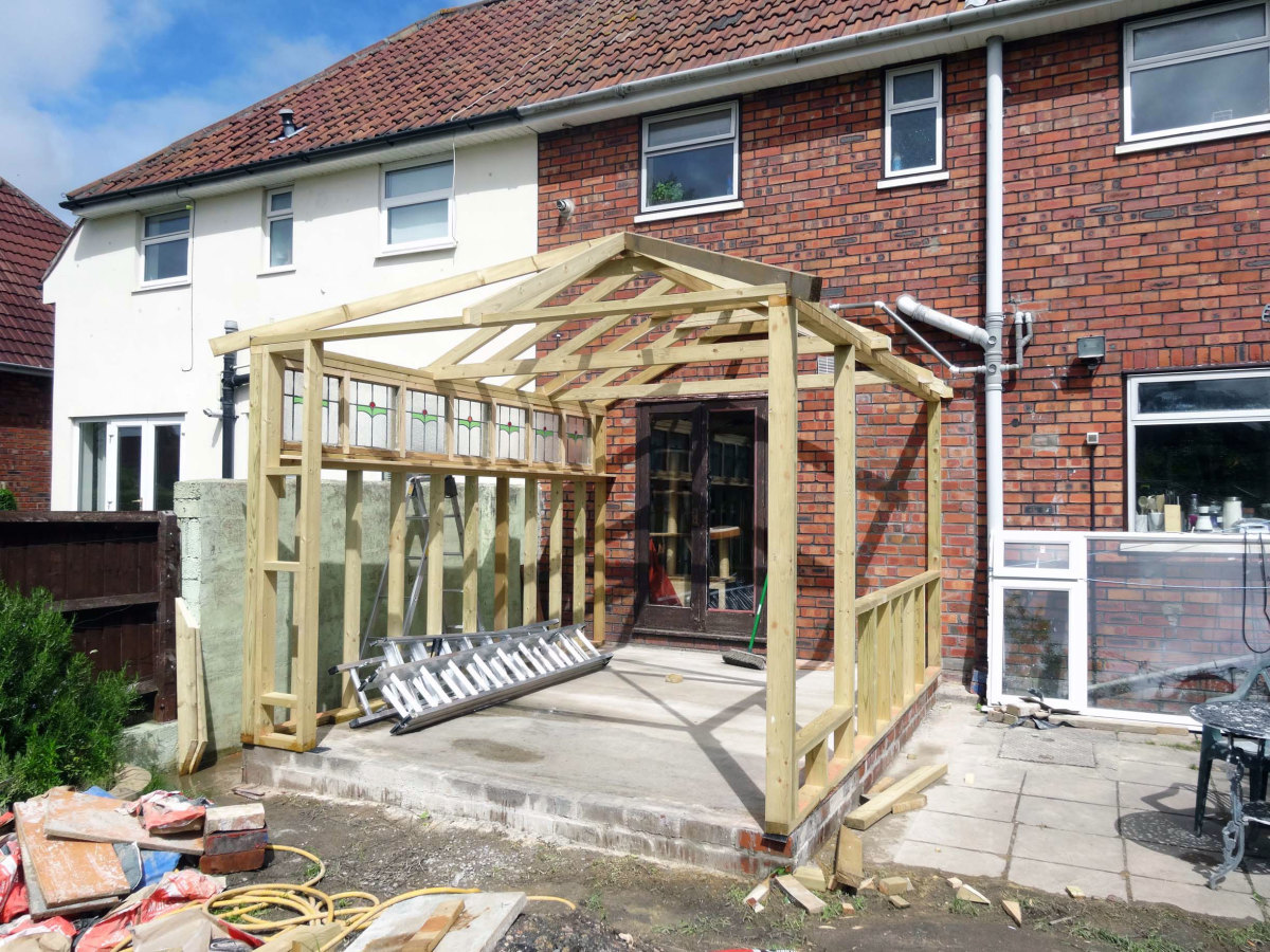 Basic timber frame construction
