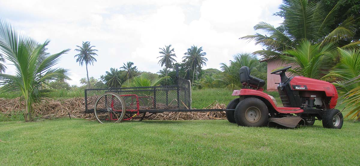 custom built trailer for lawn mower