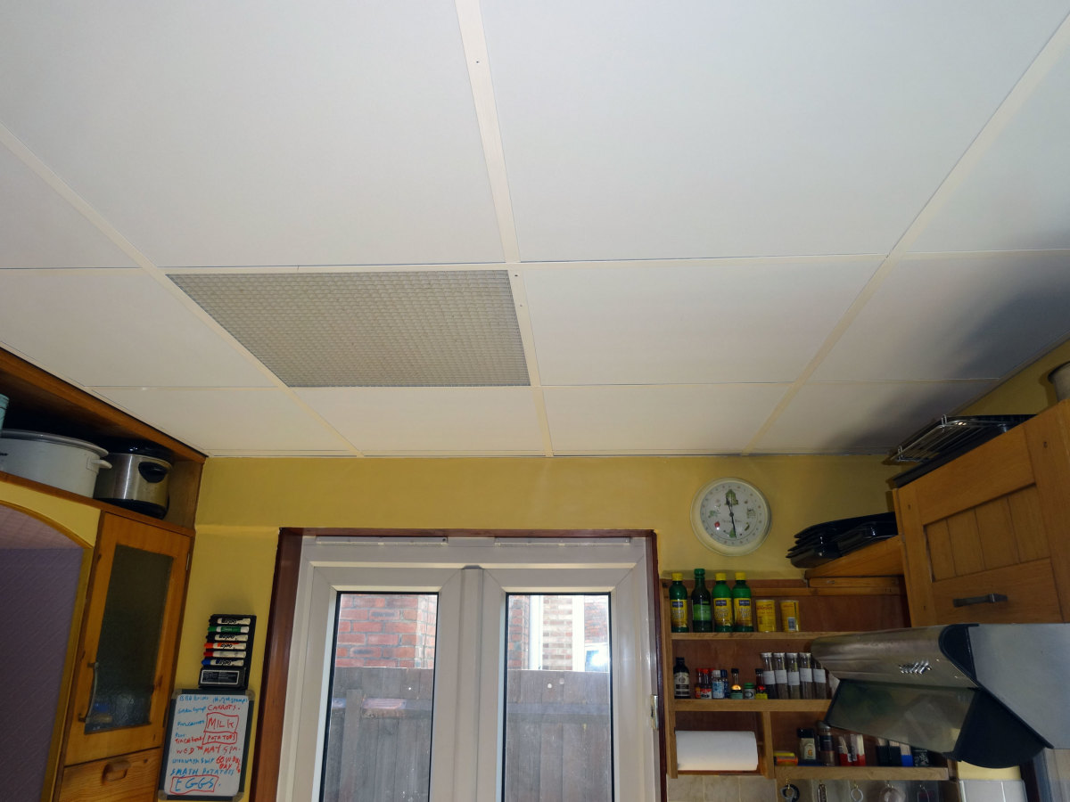 New ceiling panels.