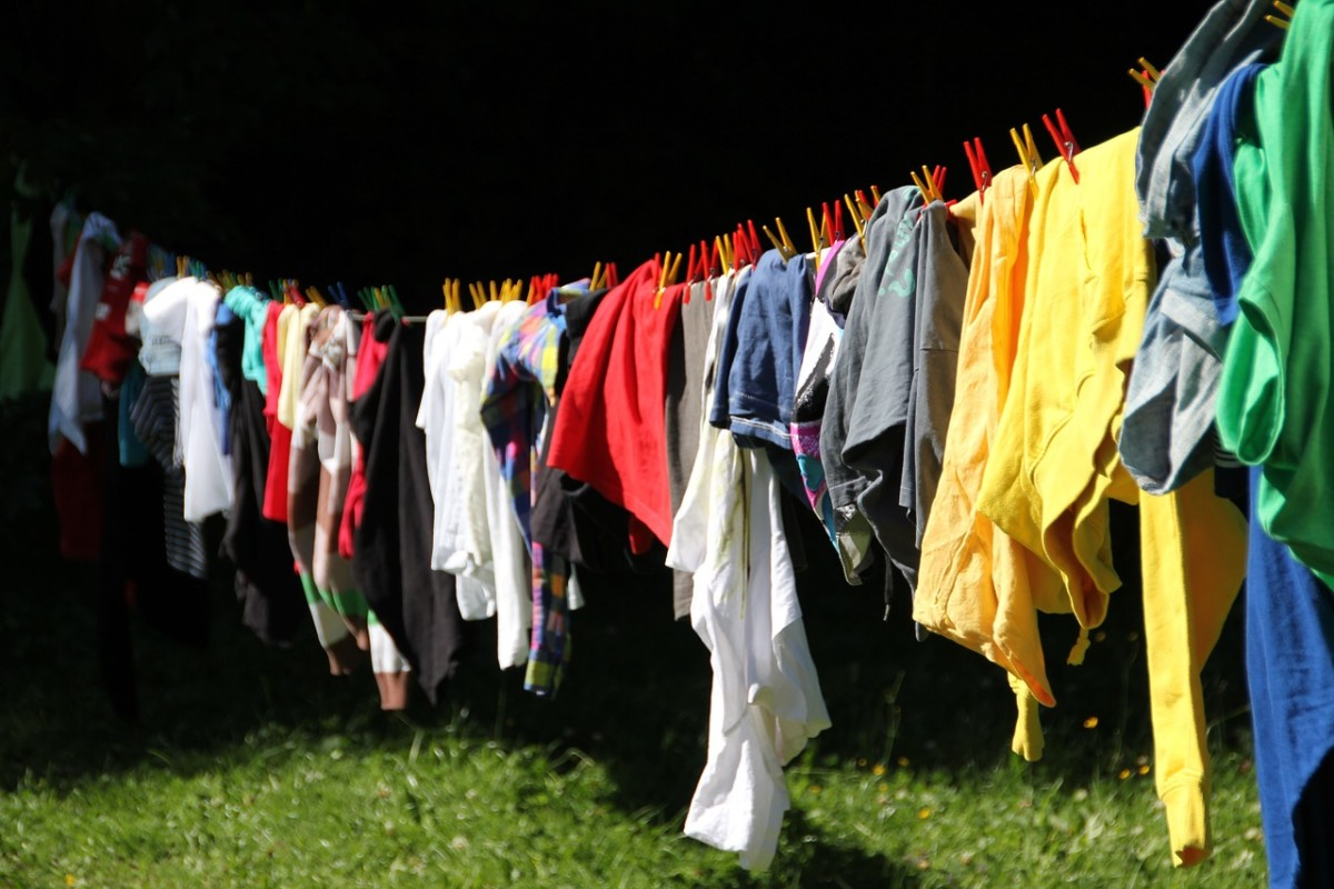 Sunlight can kill germs in clothing