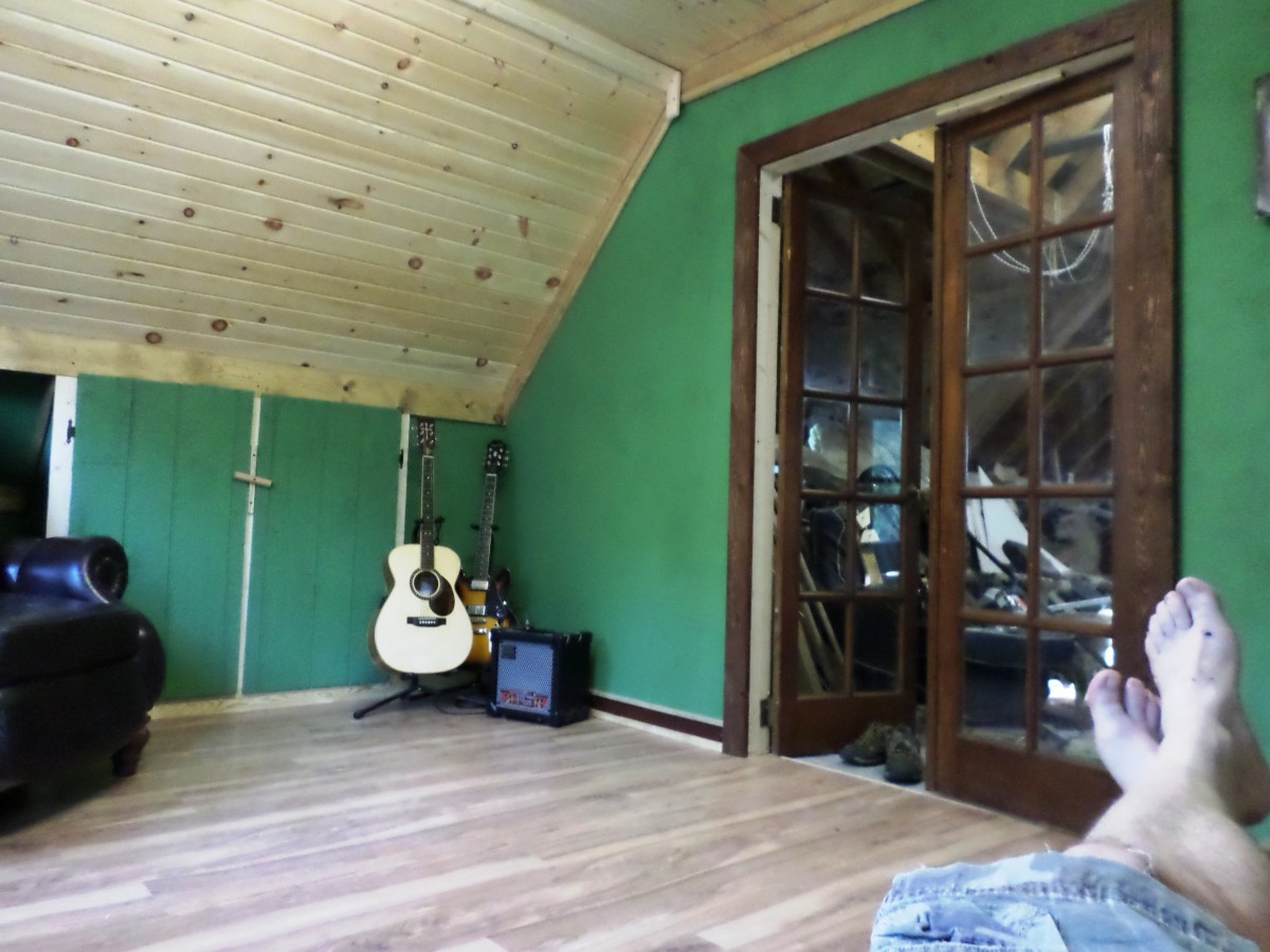 2 Car Detached Garage With Man Cave Above: Storage Space Reclaimed: Build A Man Cave