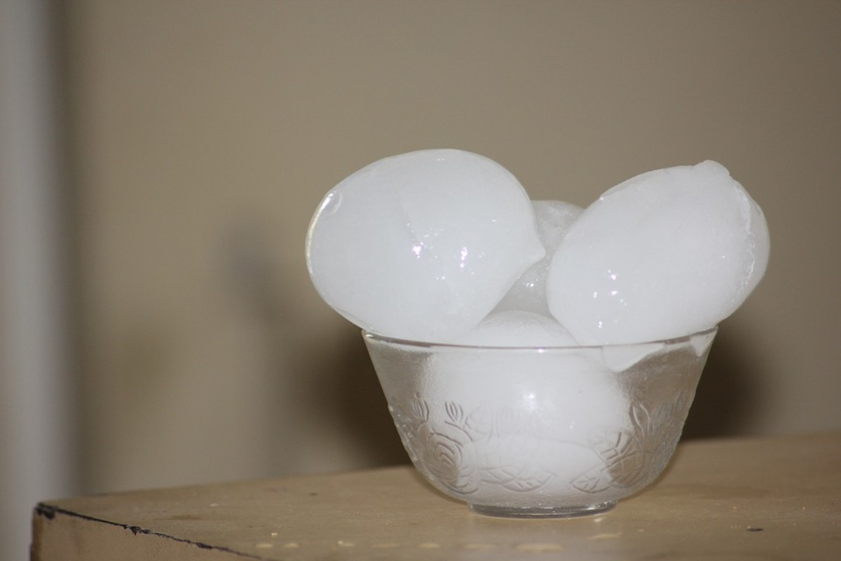 Wow, your freezer must be real small if you have to store your ice cubes in a bowl on the table.