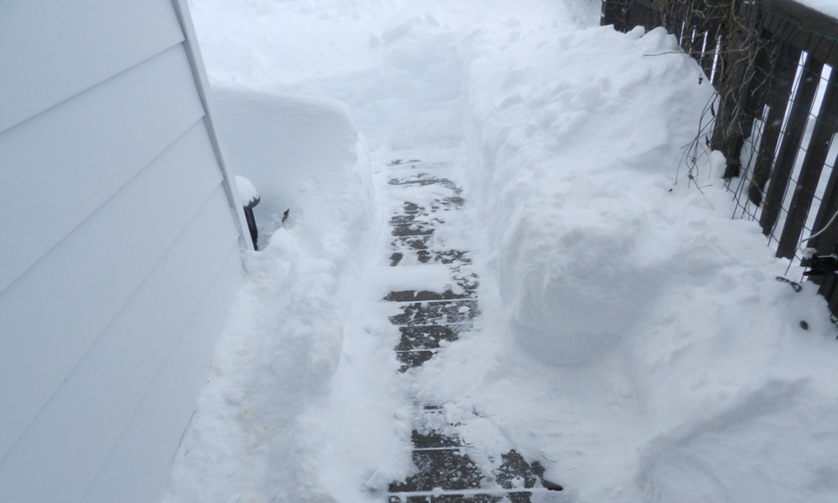 After a blizzard it may be tough just to get out your door.