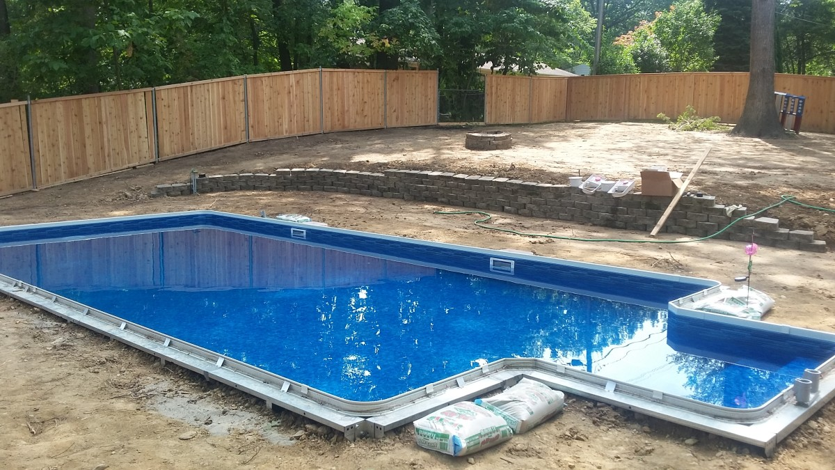 Water is in the pool!