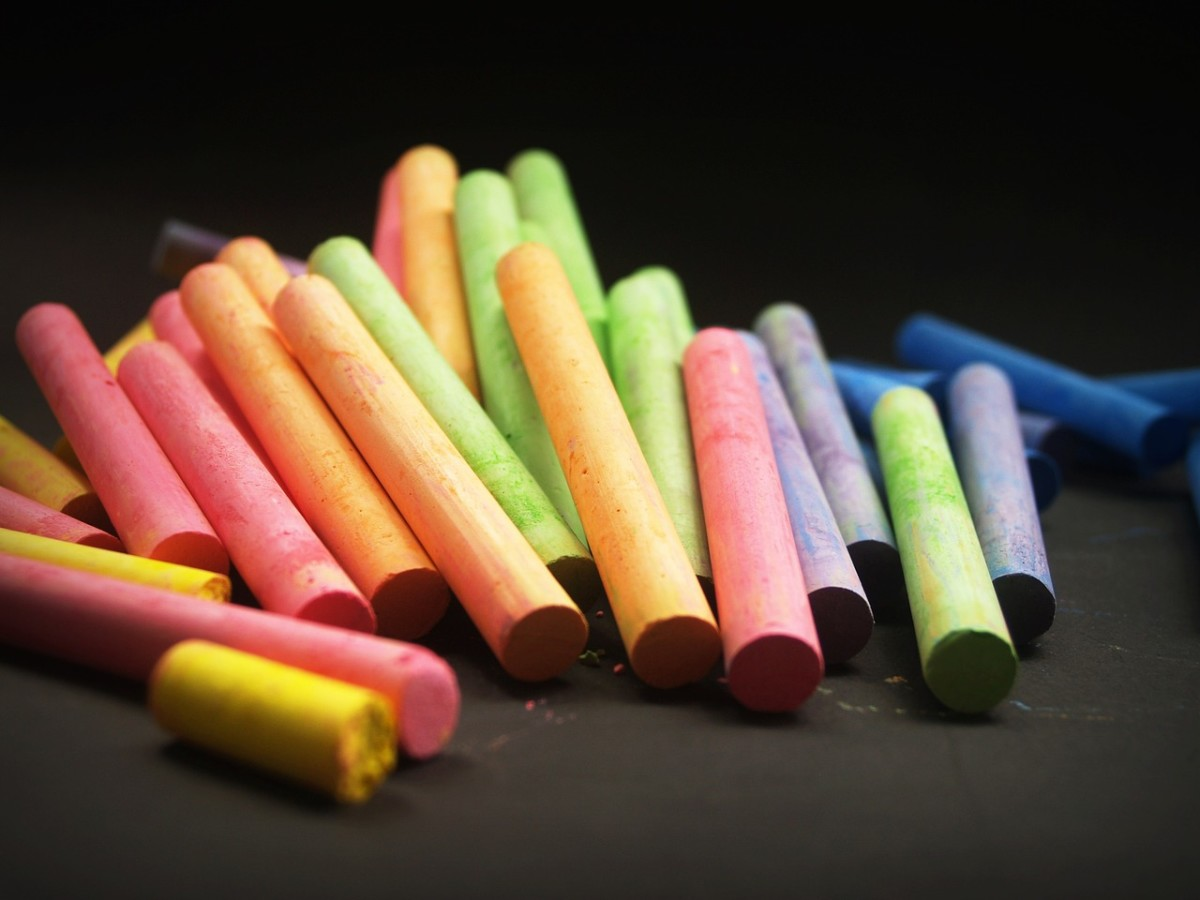 Chalk can naturally repel ants.