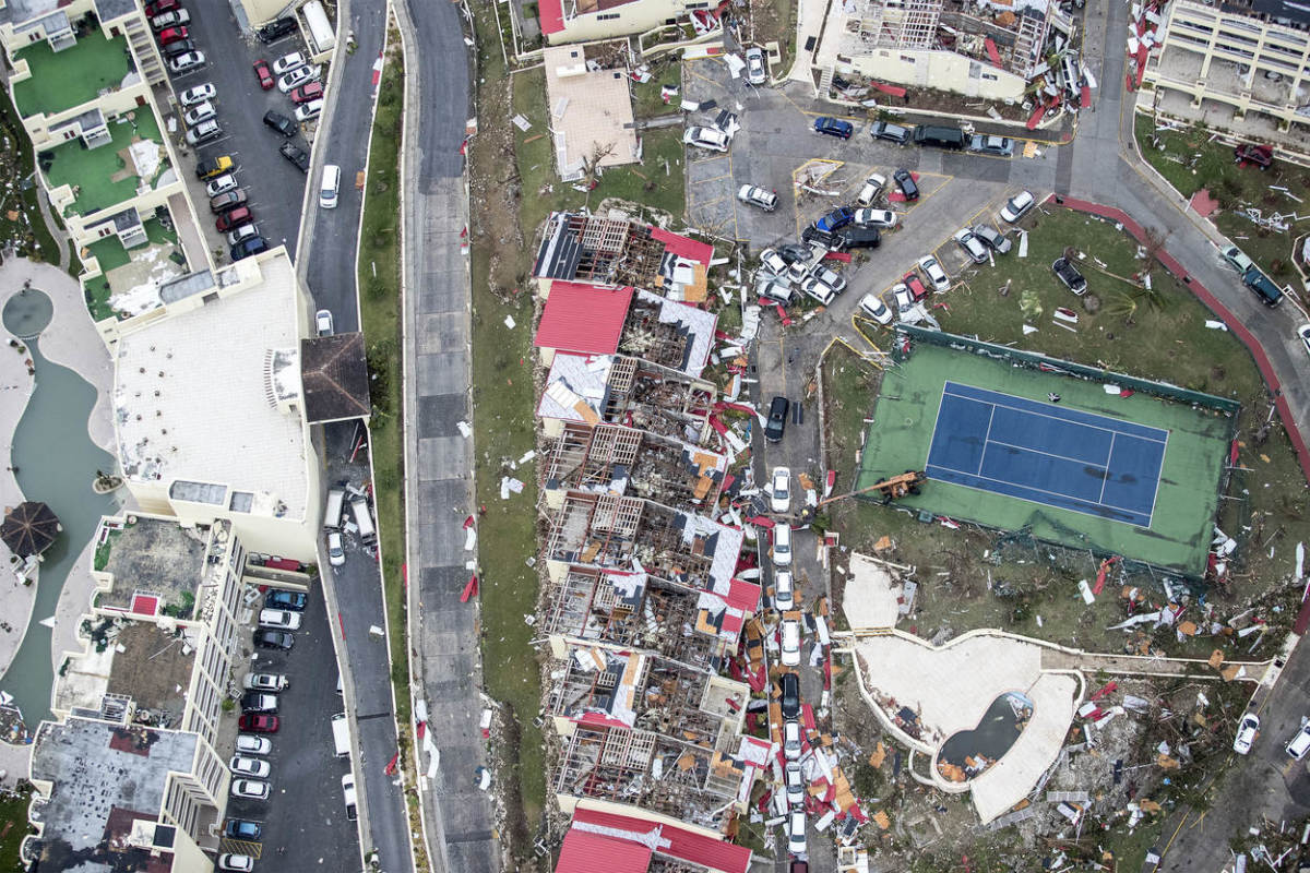 Hurricane Irma damage on Sint Maarten
