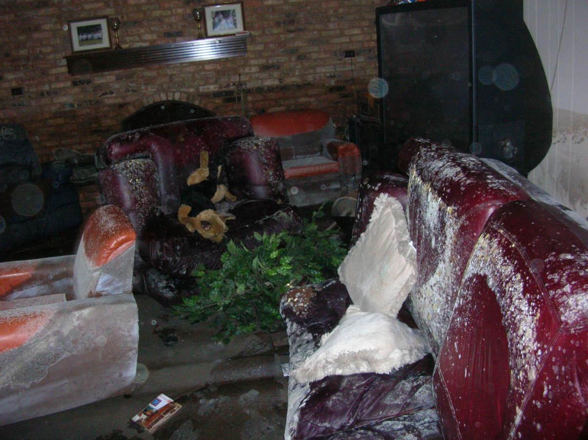 Louisiana Living Room after Hurricane Katrina