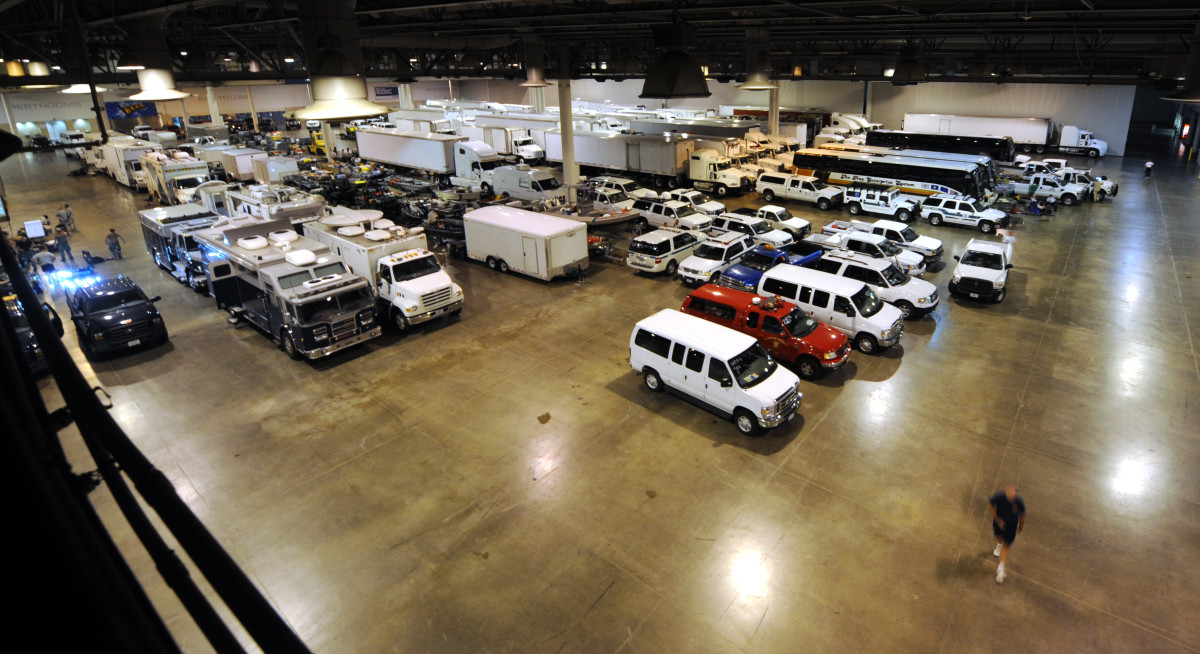 One of dozens of FEMA response facilities waiting to be deployed to the disaster zones