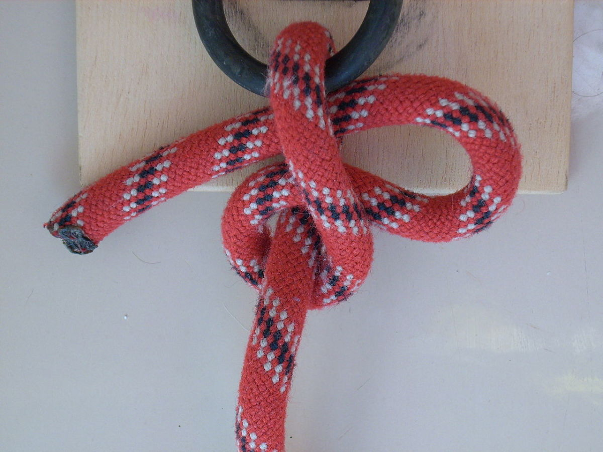 A slip half-hitch, here tied to a ring.