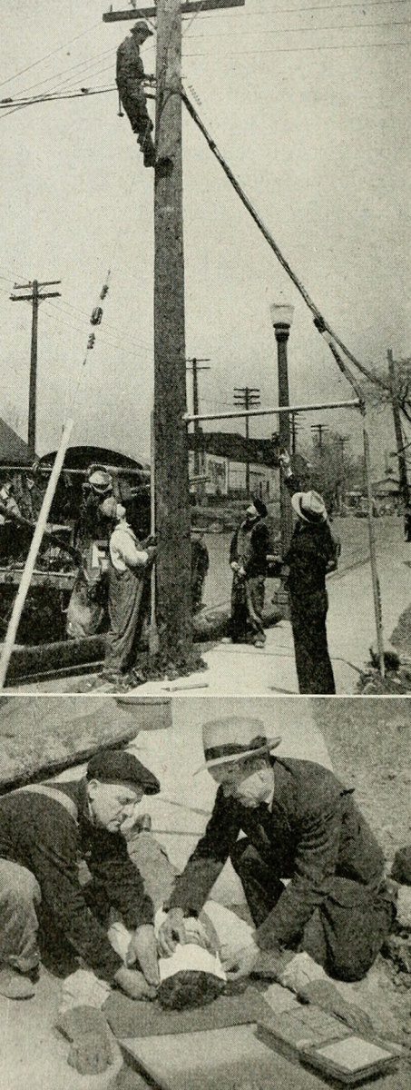 An axe mishap from 1922.  Don't worry; there are lots of gory images from the present day out there, too.