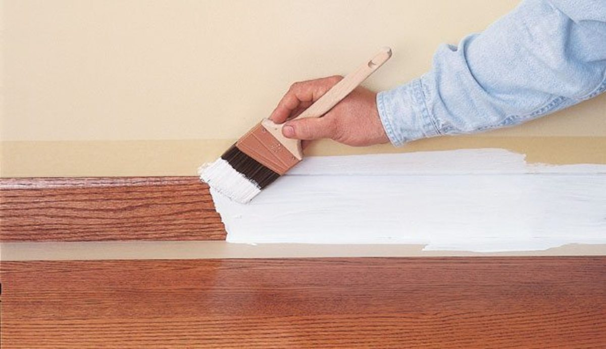 This Not Only Protects The Floor, But It Also Allows Base Board To Be  Painted Quickly Without Having To Carefully Cut In.