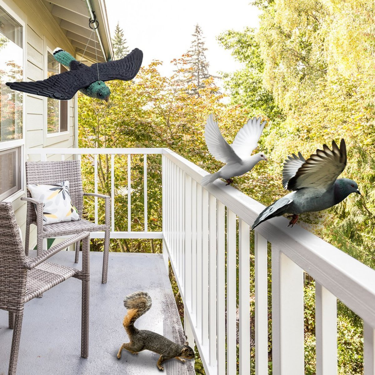 Scare Tactics To Keep Birds Off Patio