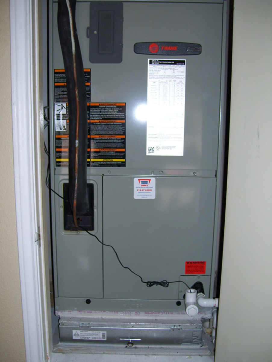 The wire set from the drain system's float switch connects to the furnace's low-voltage control circuit.