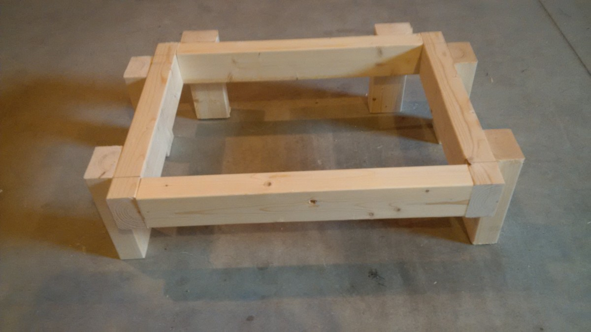 Building the Left Side Cubby Hole: Build Rectangle and Secure Depth Studs