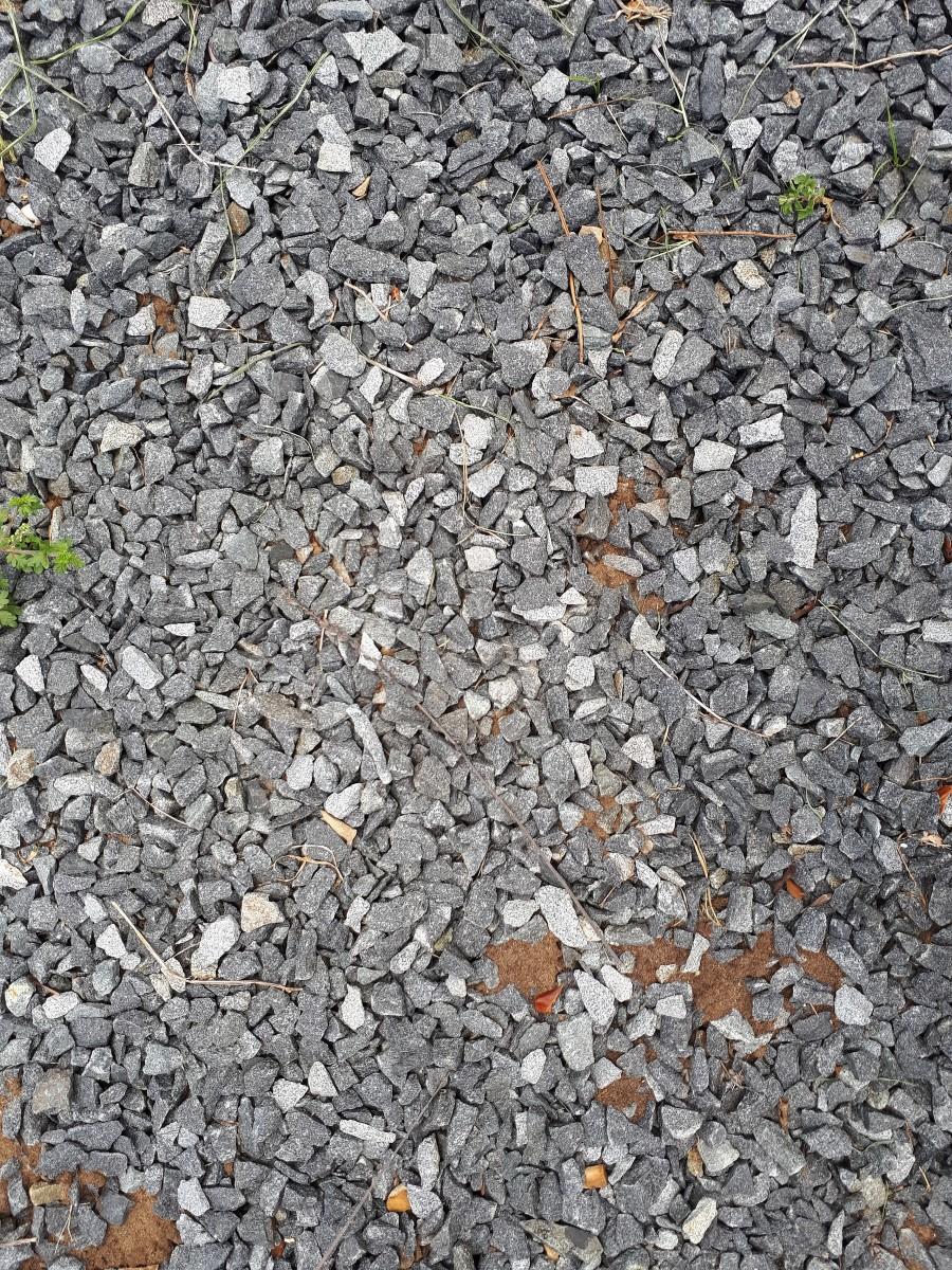 Gravel on hard soil