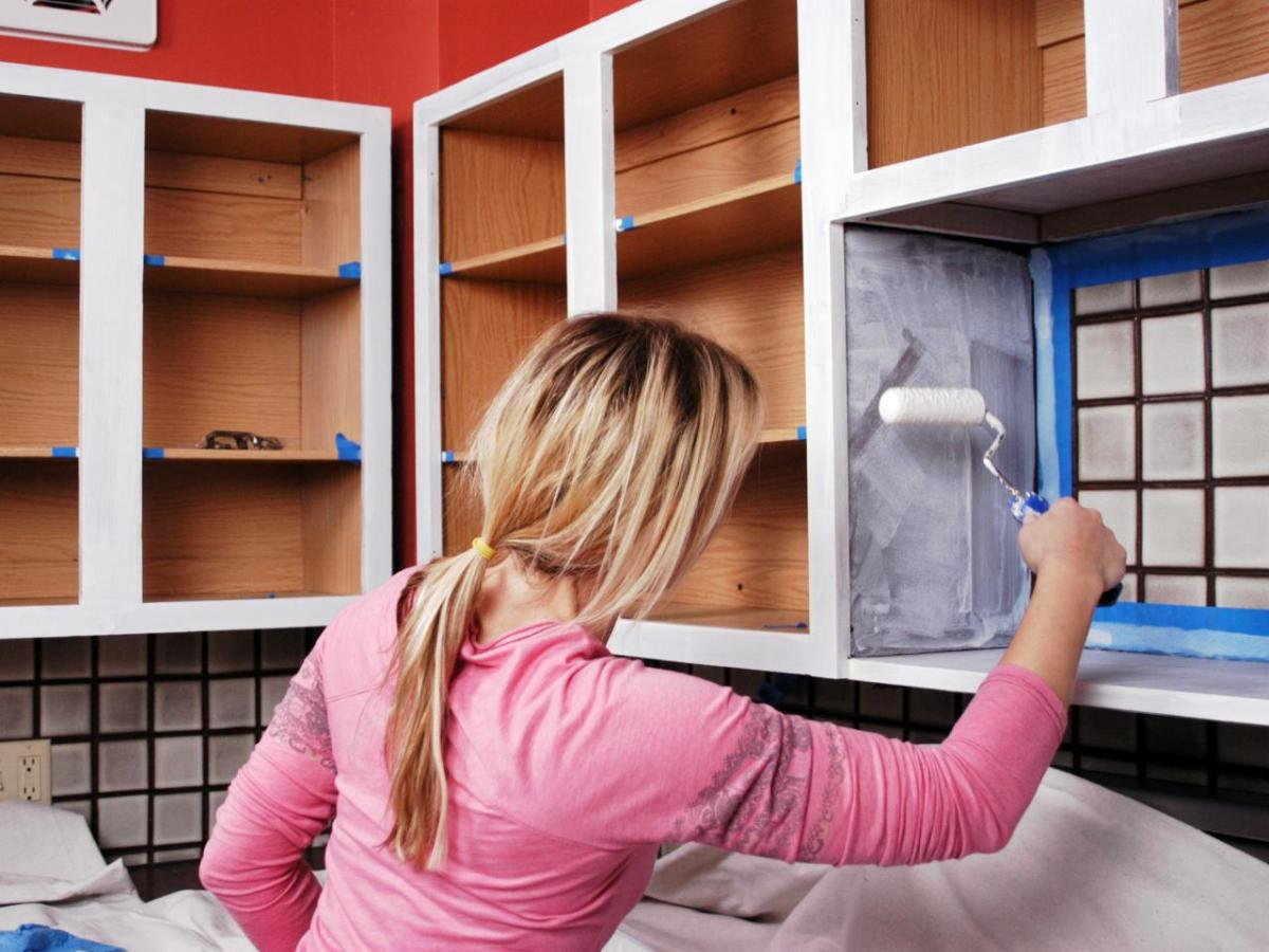 Painting Cabinet Interiors