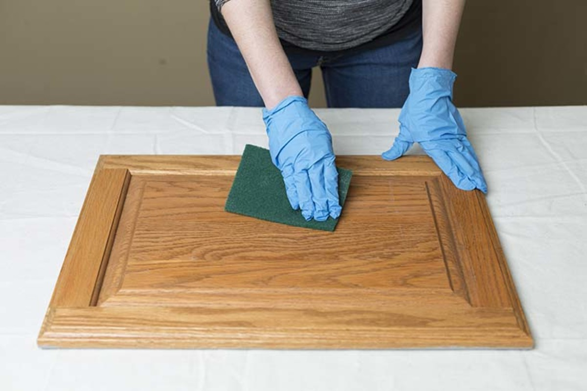 Prepping a Cabinet Door for Painting