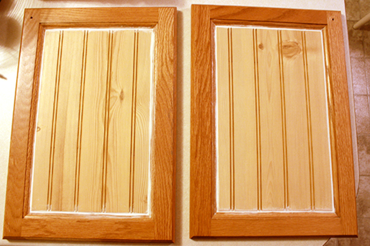 Caulking Cabinet Door Panels for Painting
