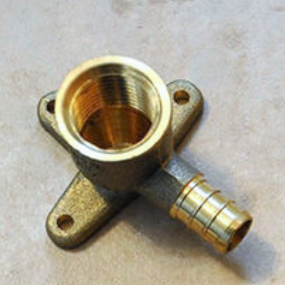 "A drop ear elbow. The shower pipe screws into the upper threads while the piping to the valve goes on the lower stem. ""Ears"" are available to fasten to the wall."