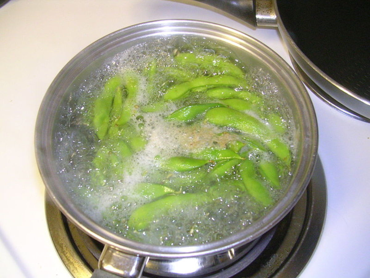 Edamame is usually boiled