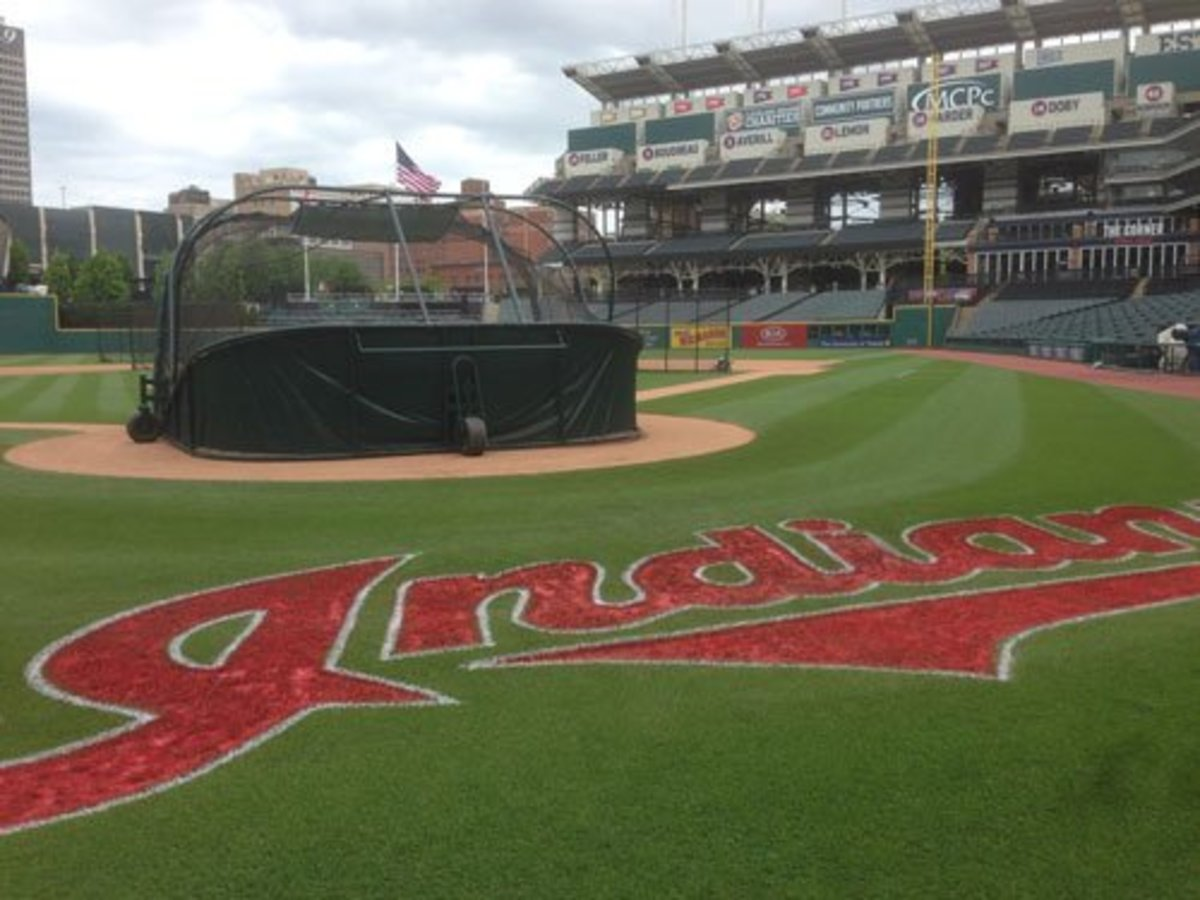 The Cleveland Indians grounds crew uses a blended strain of Kentucky Bluegrass at Progressive Field.