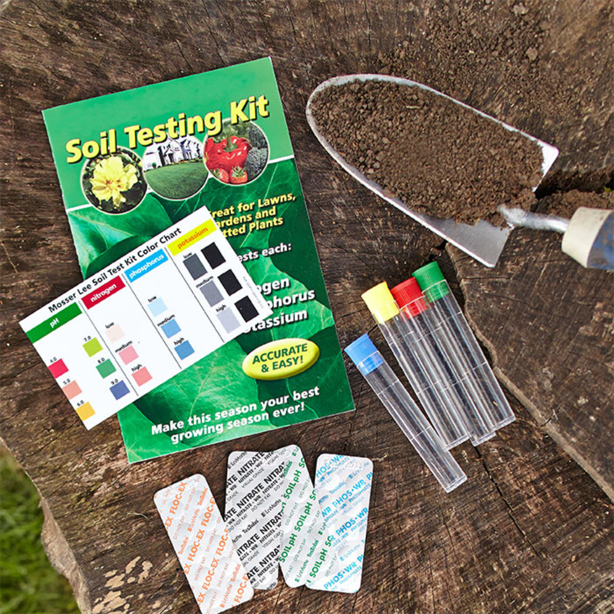 A soil testing kit helps you choose the right kind of fertilizer and keep unnecessary chemicals from draining into groundwaters.