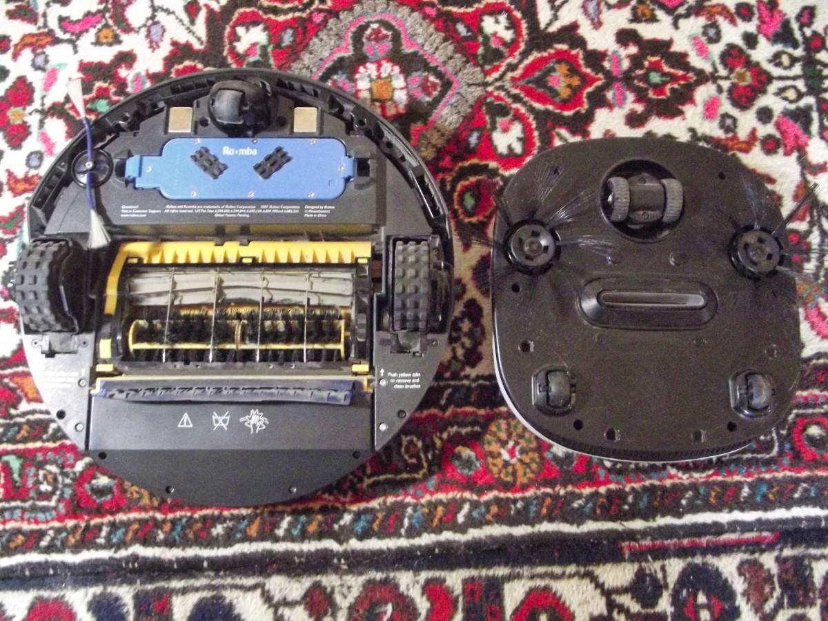 iRobot Roomba 401 alongside WOHOME Robotic Vacuum Cleaner