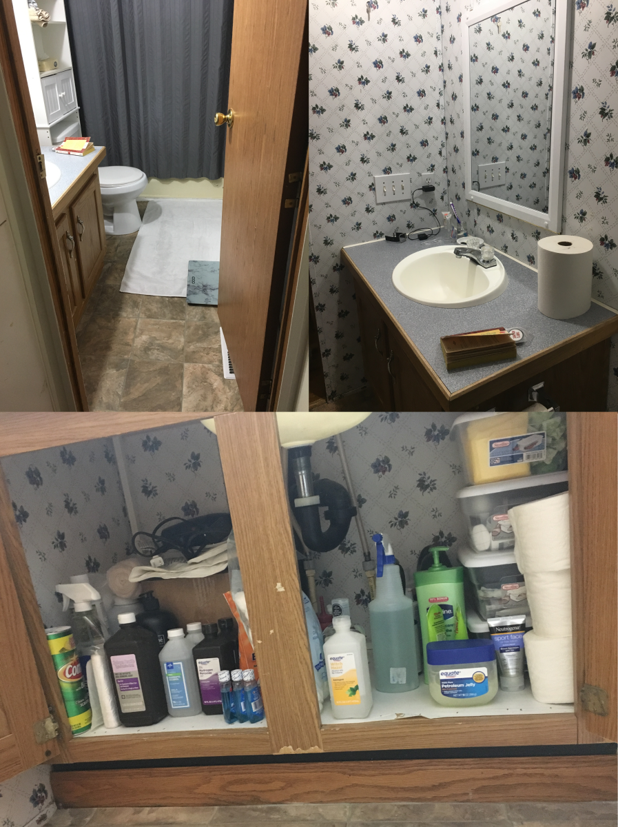 My bathroom clean and organized.