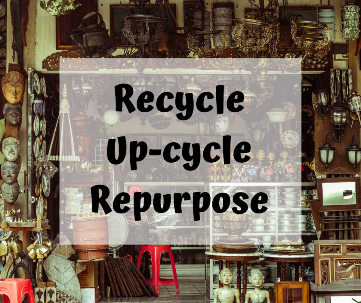 Learn how to repurpose the items of around your home.
