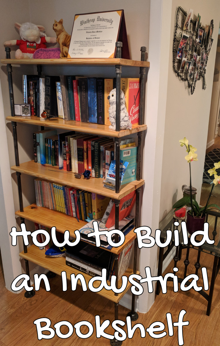 How to Build Your Own Industrial Bookshelf