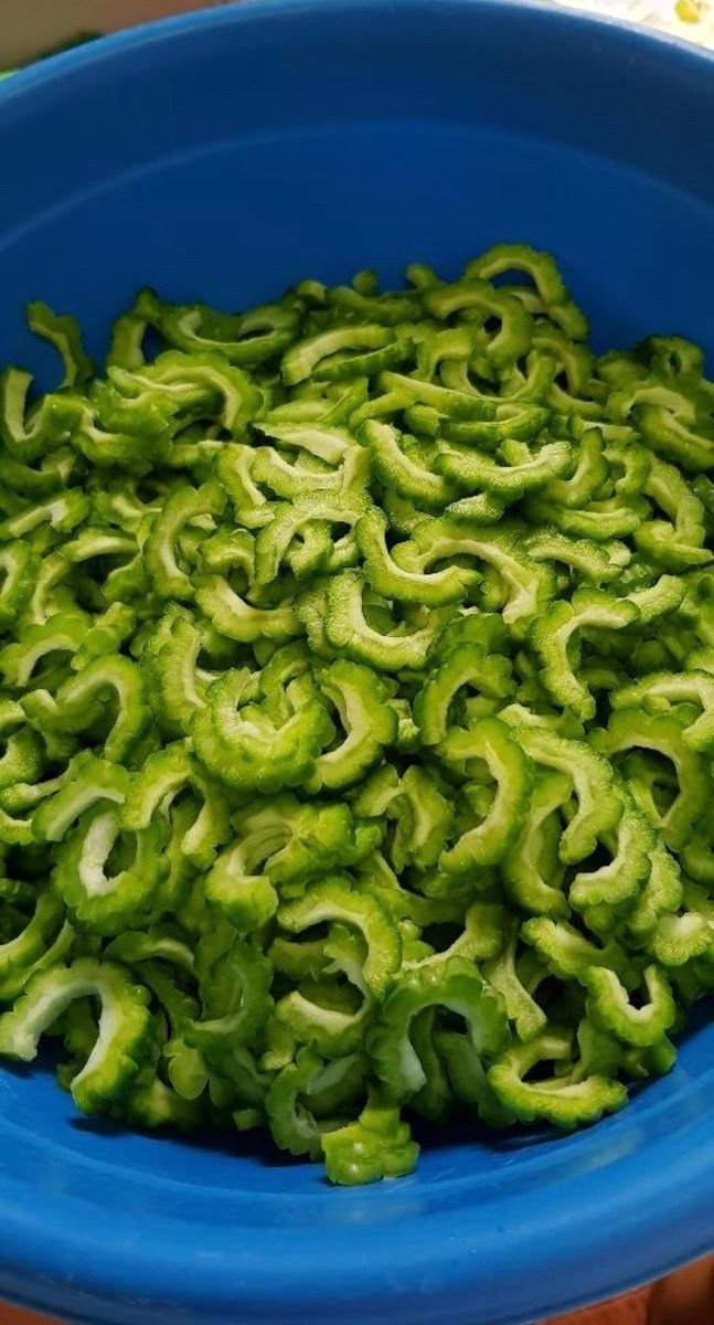 Now you have sliced ampalaya!