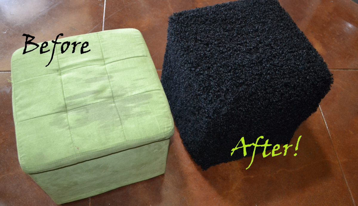 How to Make an Easy Faux-Fur Slipcover for a Storage Cube Ottoman