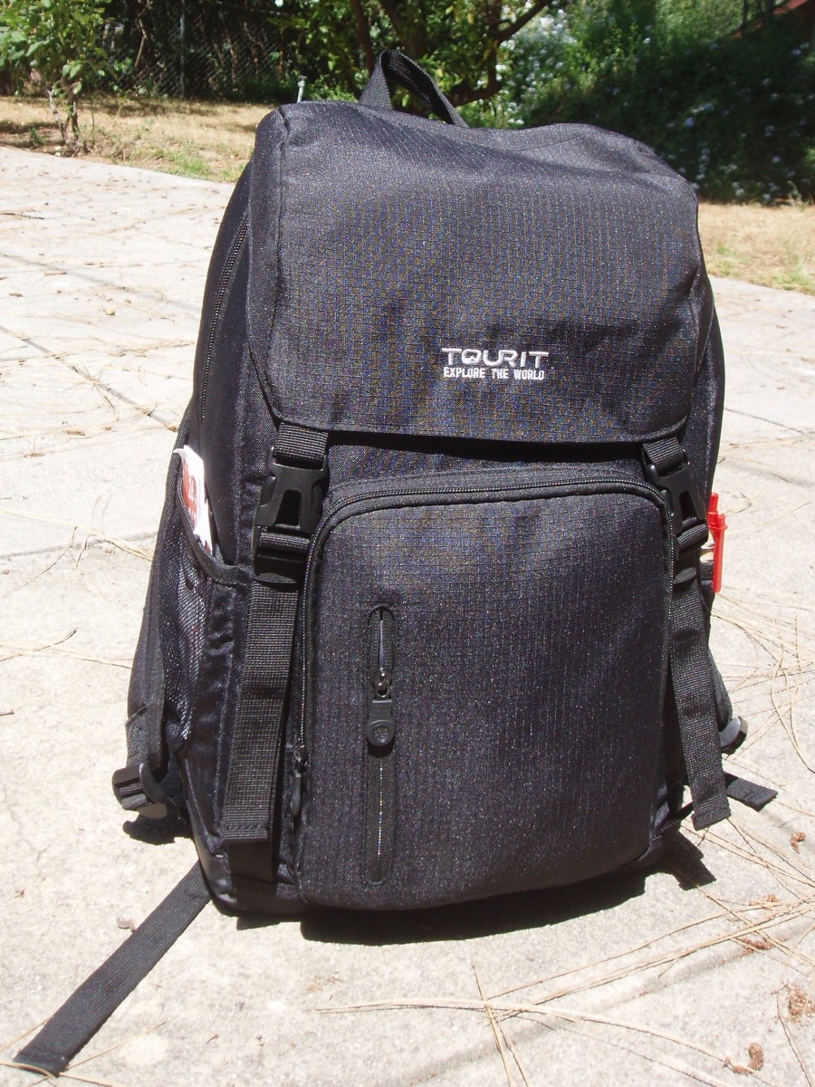 Here's the insulated backpack I use. On Amazon it was called a picnic backpack. It's got very comfortable straps, with a hook on one that I use to hook my keys onto. I think, really, it's a can opener (lol).